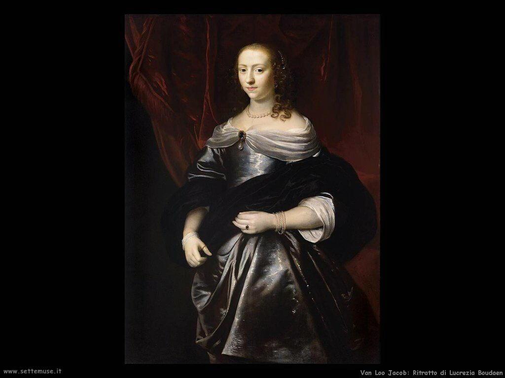 Van Loo, Jacob Ritratto di Lucrezia Boudaen