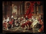 Van Loo, Louis Michel La famiglia di Filippo V