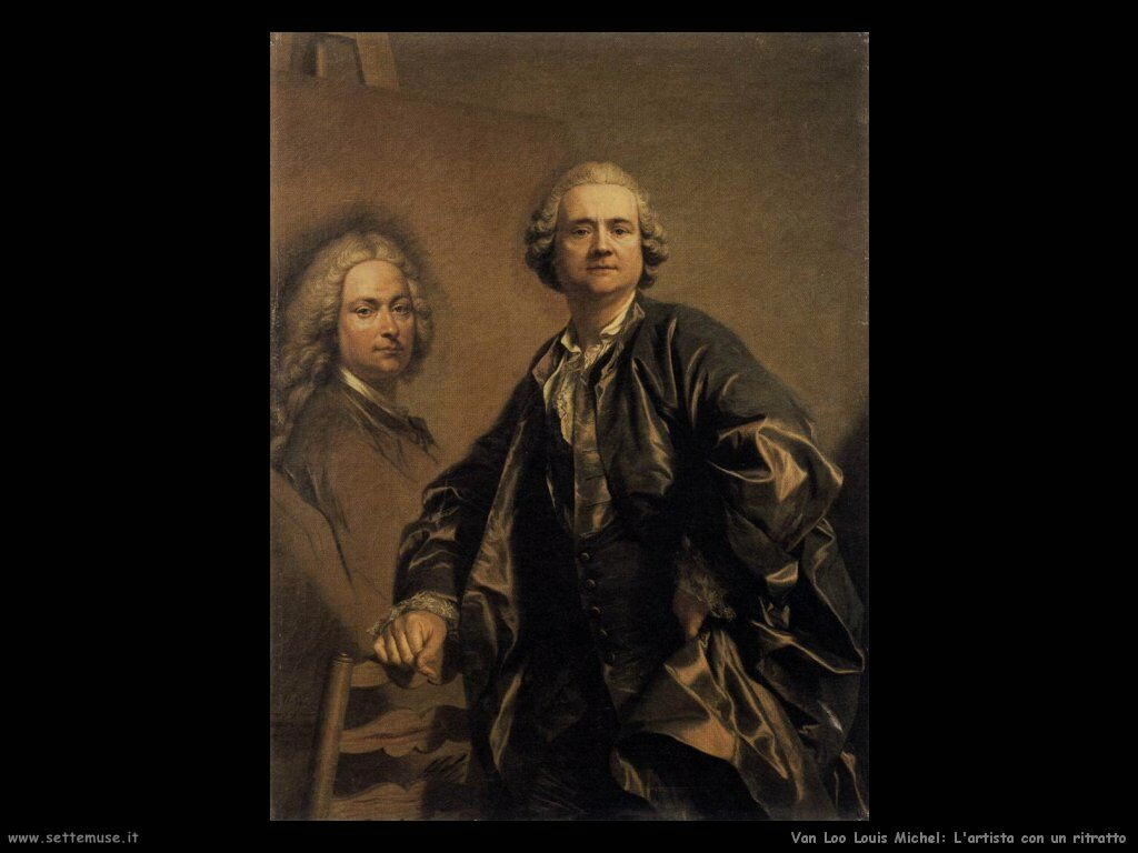 Van Loo, Louis Michel L'artista con un ritratto