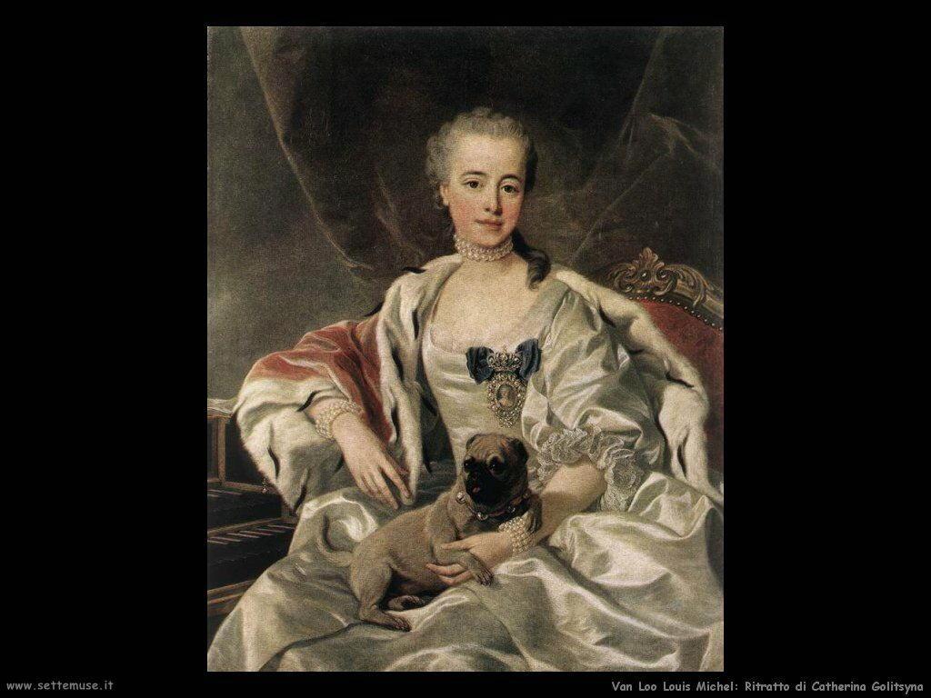 Van Loo, Louis Michel Ritratto di Caterina Golitsyna