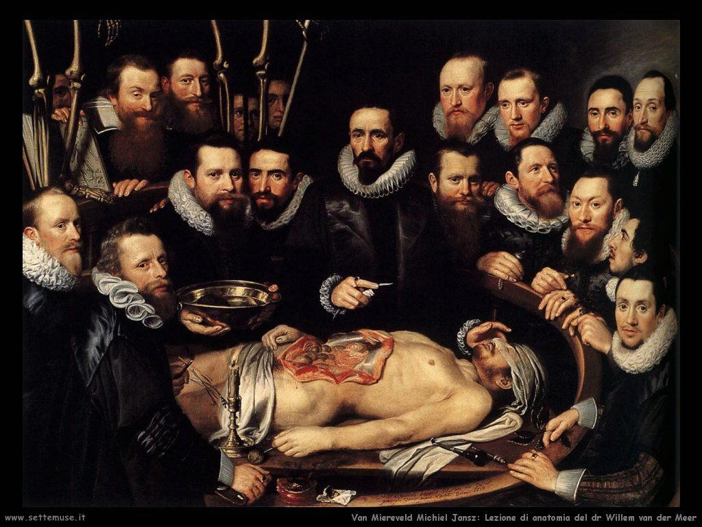 Van Miereveld, Michiel Jansz Lezione di anatomia del dr Willem van der Meer