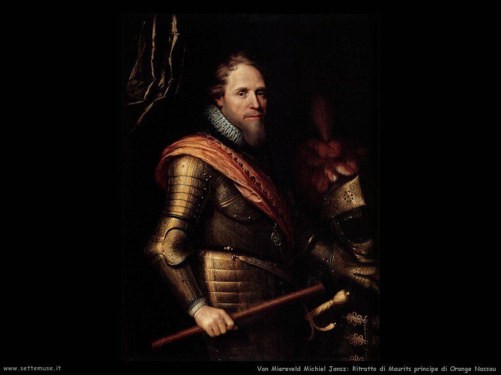 Van Miereveld, Michiel Jansz Maurits principe di Orange Nassau