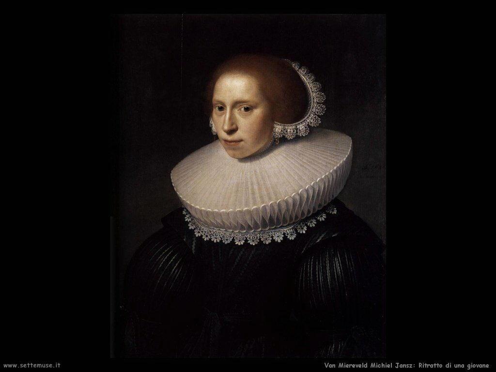 Van Miereveld, Michiel Jansz Ritratto di giovane signora