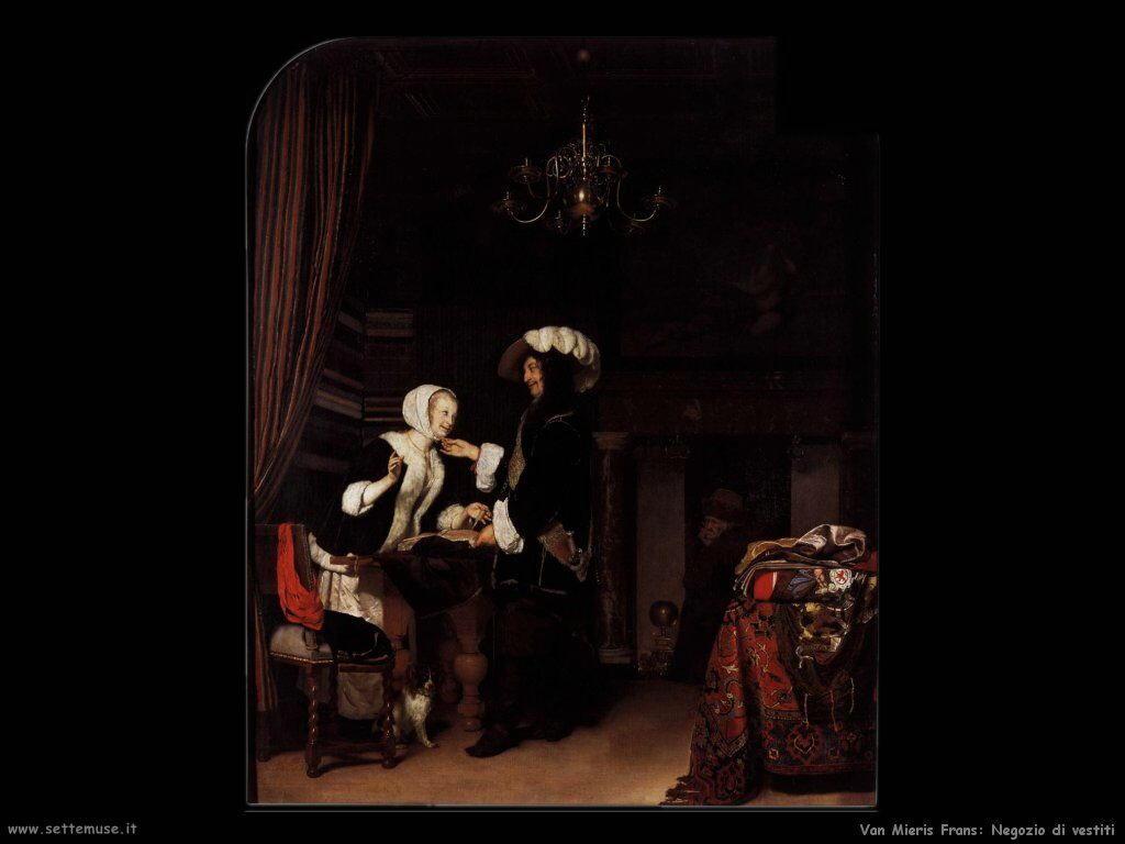 Il negozio di tessuti Van Mieris Frans the younger