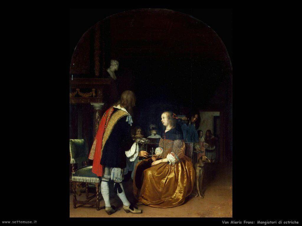 Mangiatori di ostriche Van Mieris Frans the younger