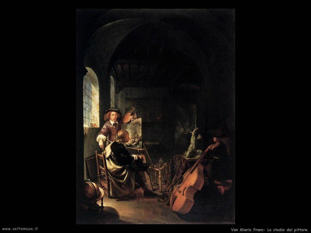 Il pittore nel suo studio Van Mieris Frans the younger