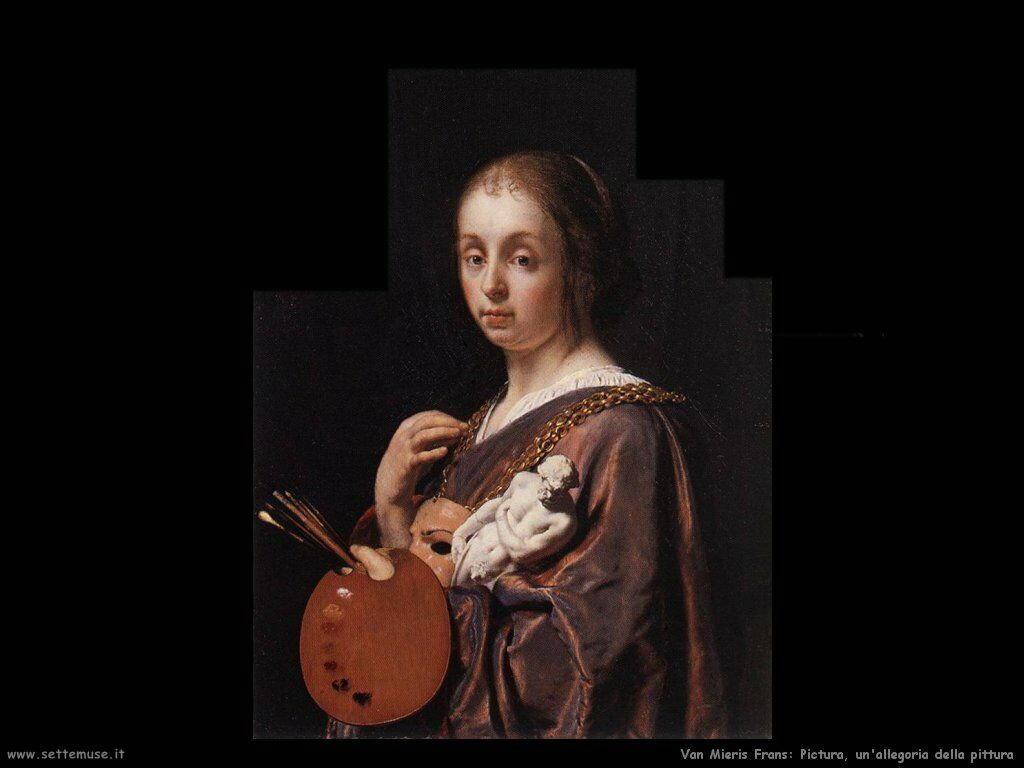 Dipinto di allegoria della pittura Van Mieris Frans the younger