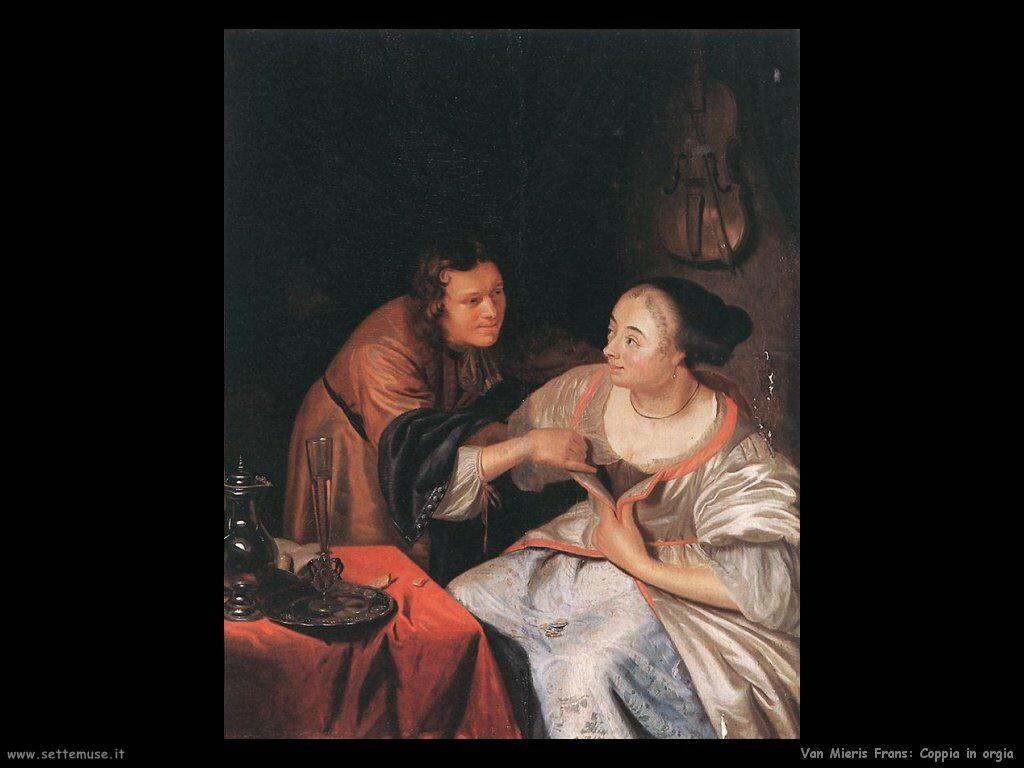 Coppia lasciva Van Mieris Frans the younger