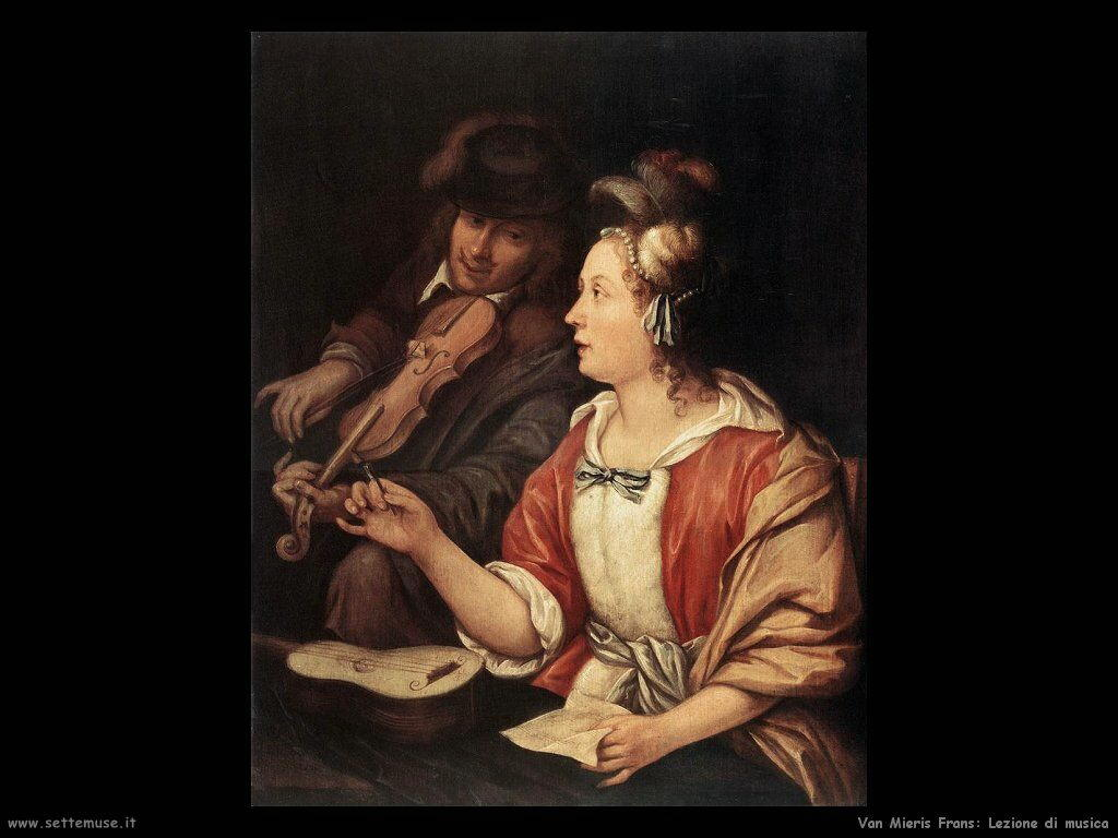 Lezione di musica Van Mieris Frans the younger