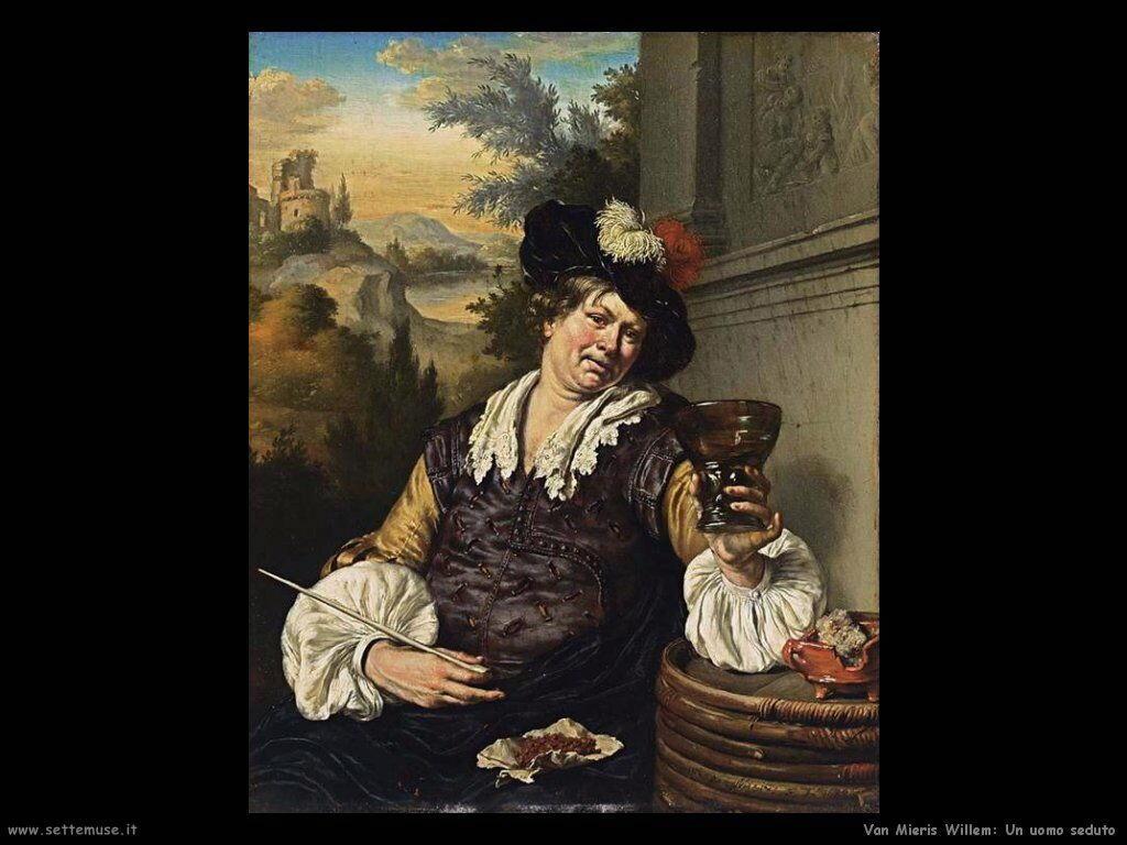 Van Mieris Willem Uomo seduto