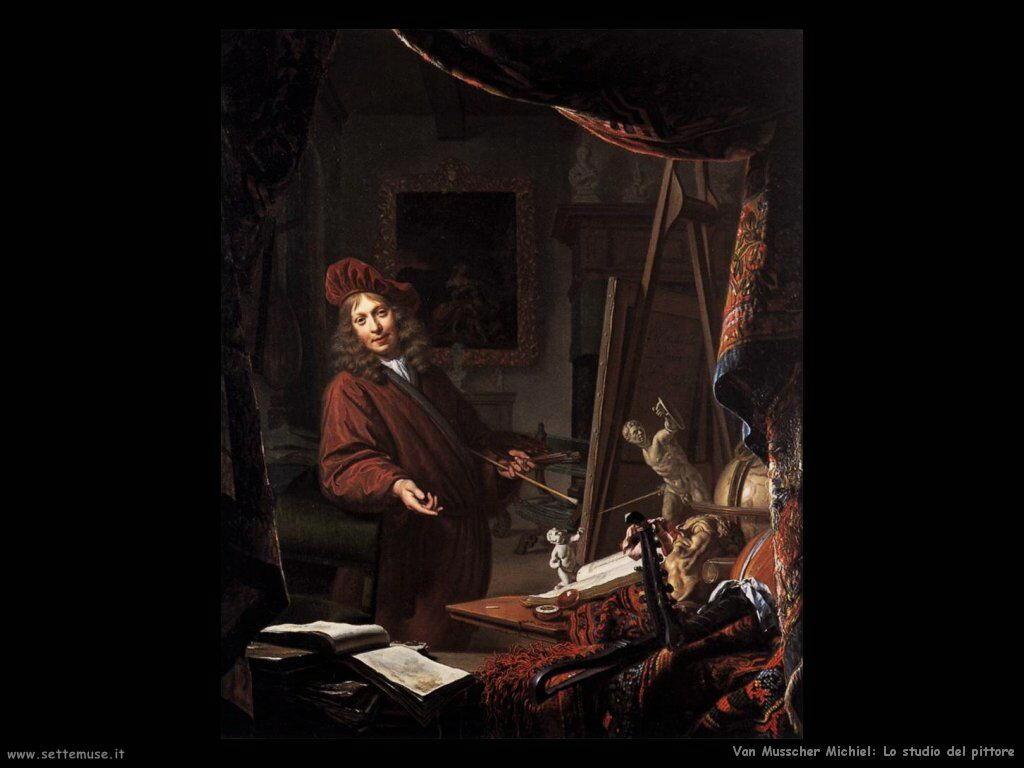 Van Musscher, Michiel Lo studio del pittore