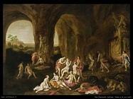 Van Nieulandt, Adriaen Diana e le sue ninfe