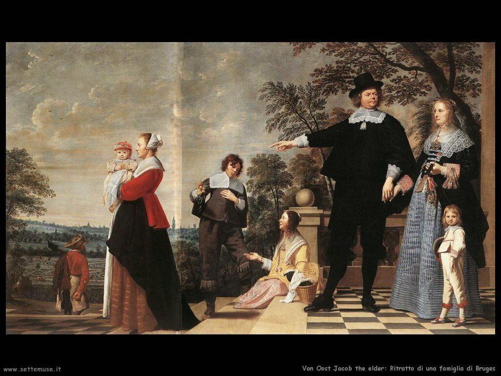 Van Oost, Jacob The Elder Ritratto della famiglia Bruges