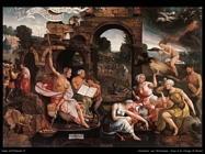 Van Oostsanen, Jacob Cornelisz Saul e la strega di Endor