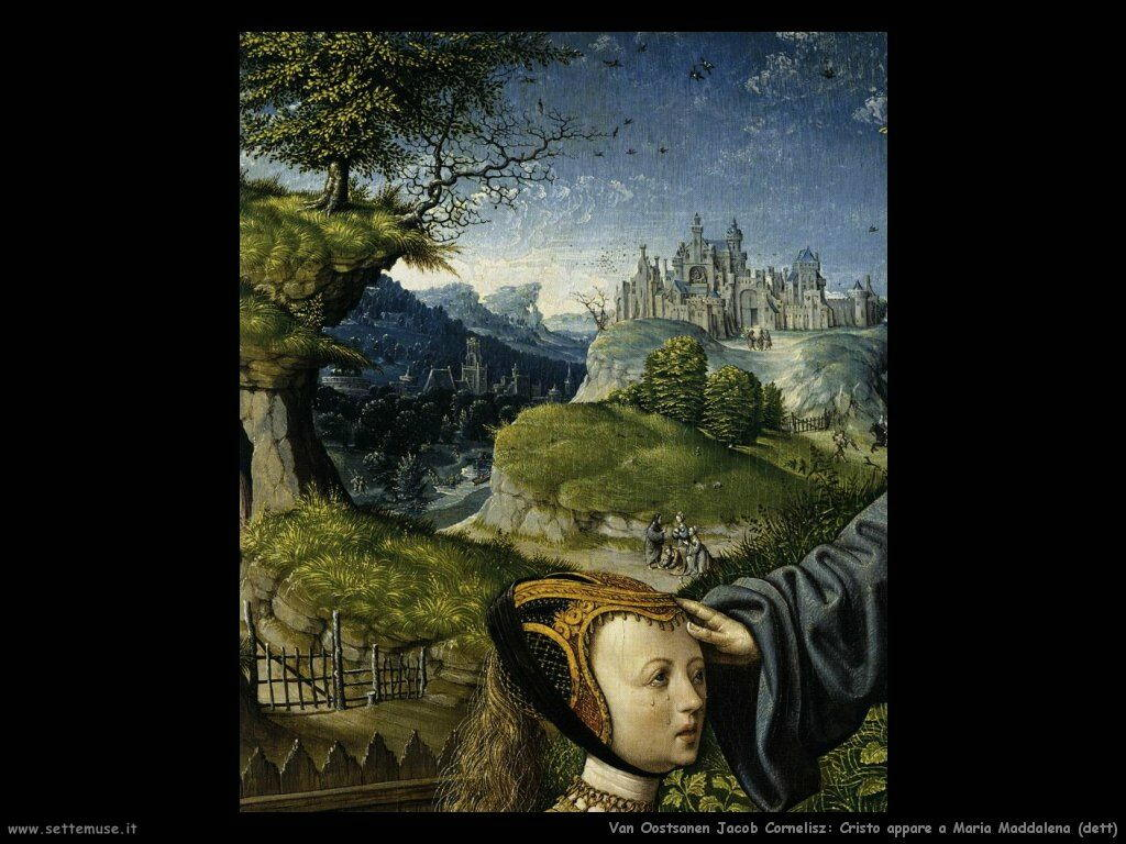 Van Oostsanen, Jacob Cornelisz Cristo appare a Maria Maddalena (dett)