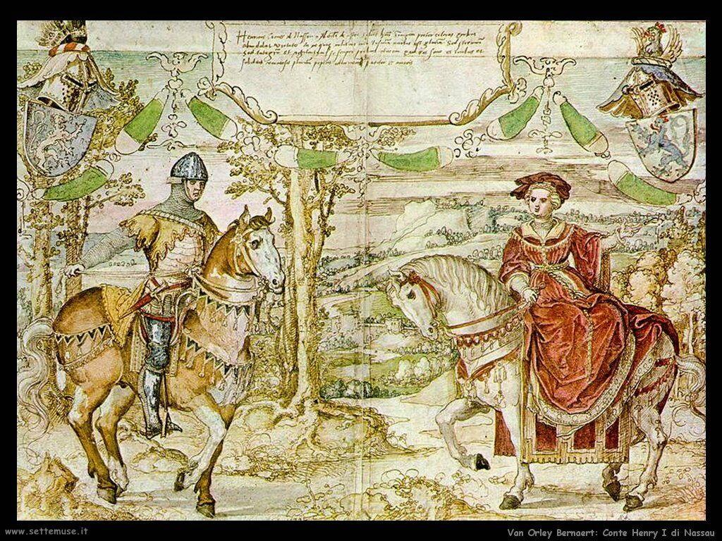 Conte Enrico I di Nassau Van Orley Bernaert
