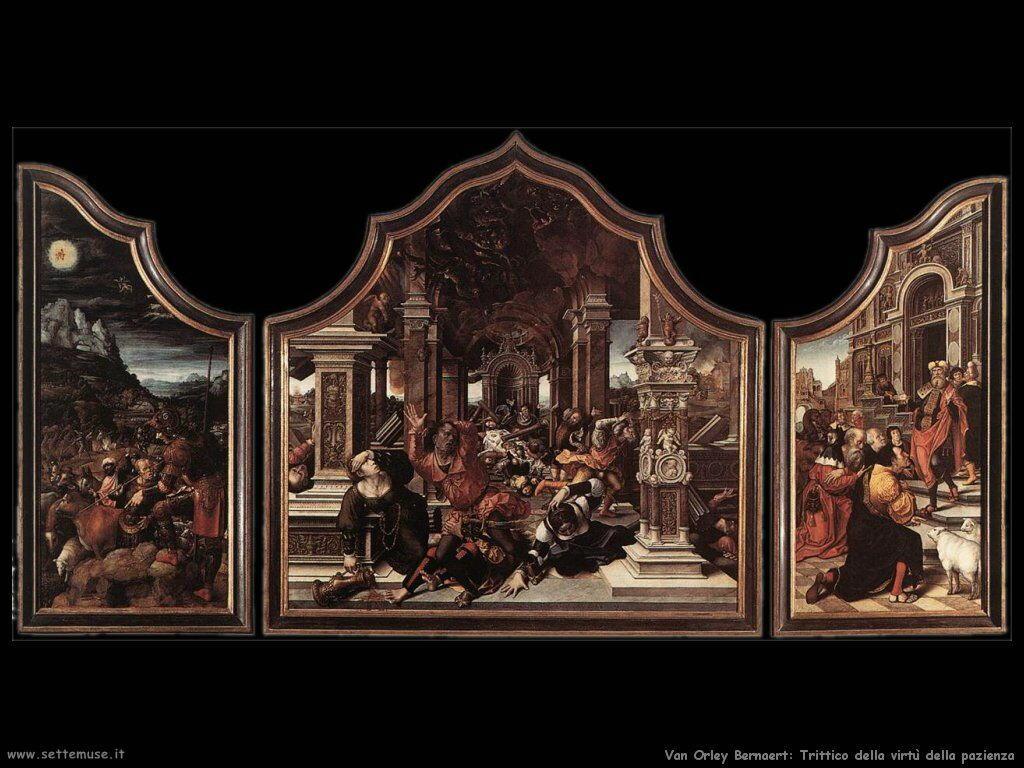 Trittico della Virtù della pazienza Van Orley Bernaert