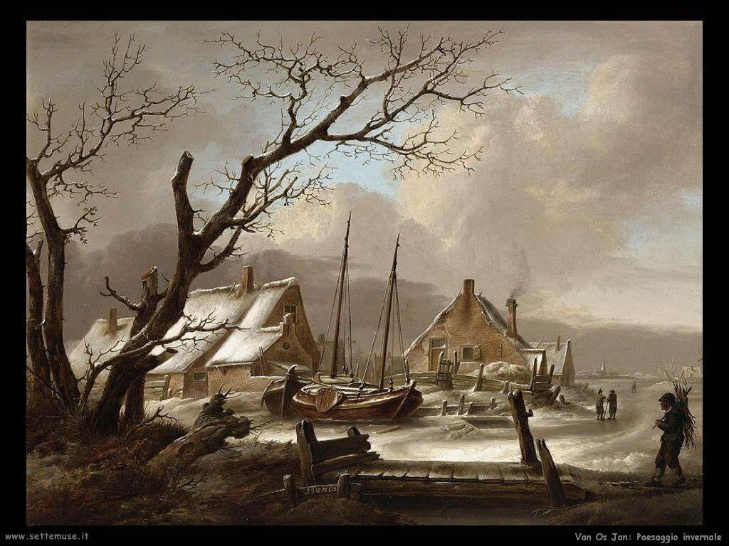 Van Os, Jan Paesaggio invernale