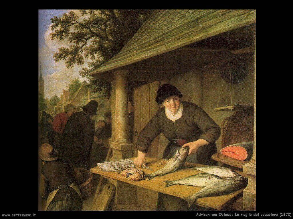 La moglie del pescatore 1672 Van Ostade Adriaen Jansz