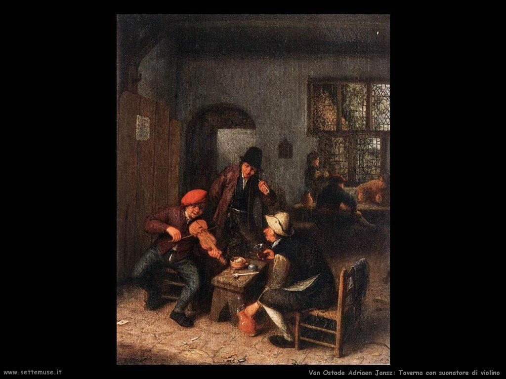 Interno di taverna con violinista Van Ostade Adriaen Jansz