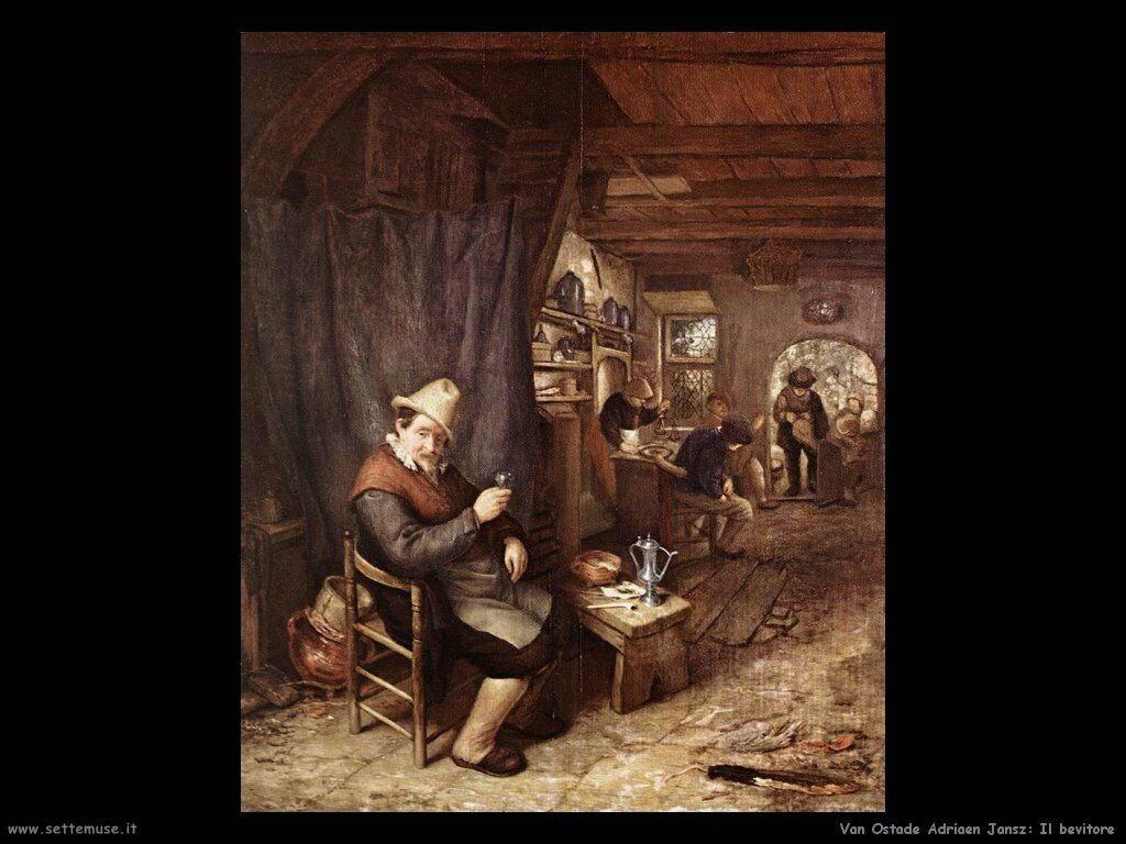 Il bevitore Van Ostade Adriaen Jansz