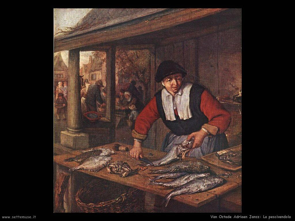 La pescivendola Van Ostade Adriaen Jansz
