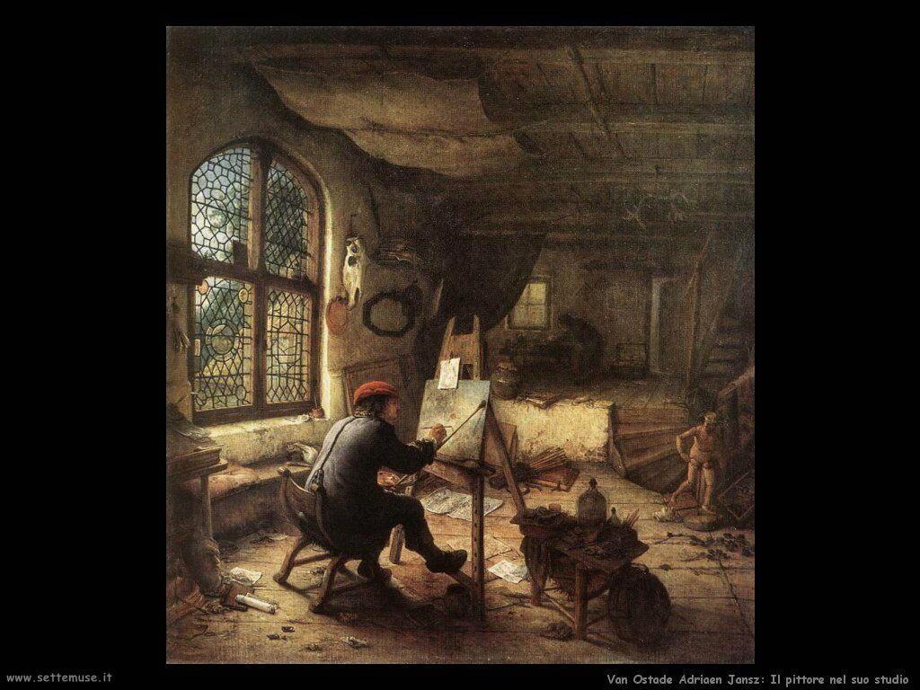 Il pittore e il suo studio Van Ostade Adriaen Jansz