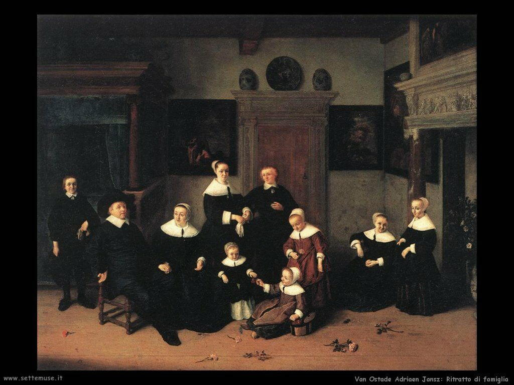 Ritratto di famiglia Van Ostade Adriaen Jansz