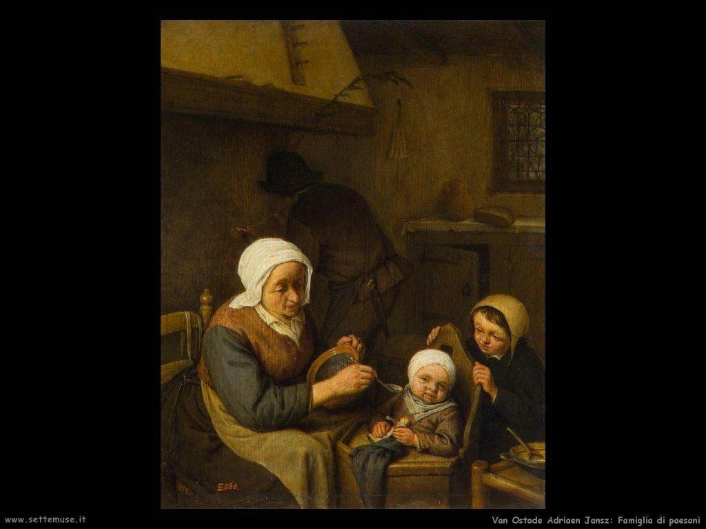 Famiglia contadina Van Ostade Adriaen Jansz