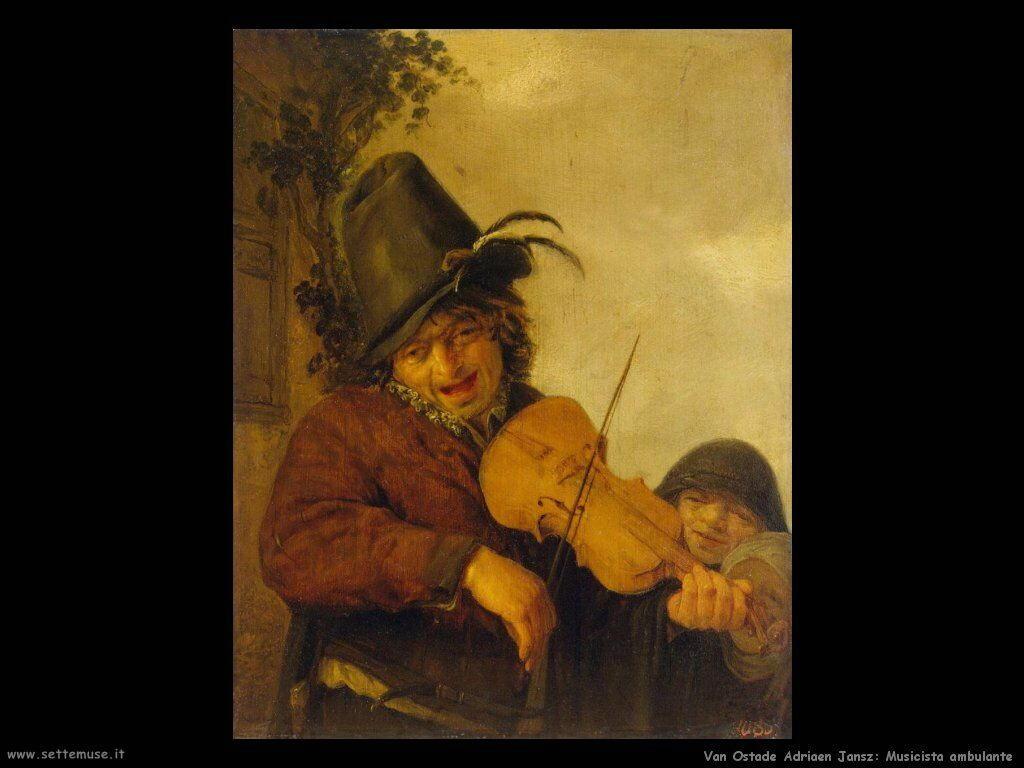 Musicista vagabondo Van Ostade Adriaen Jansz