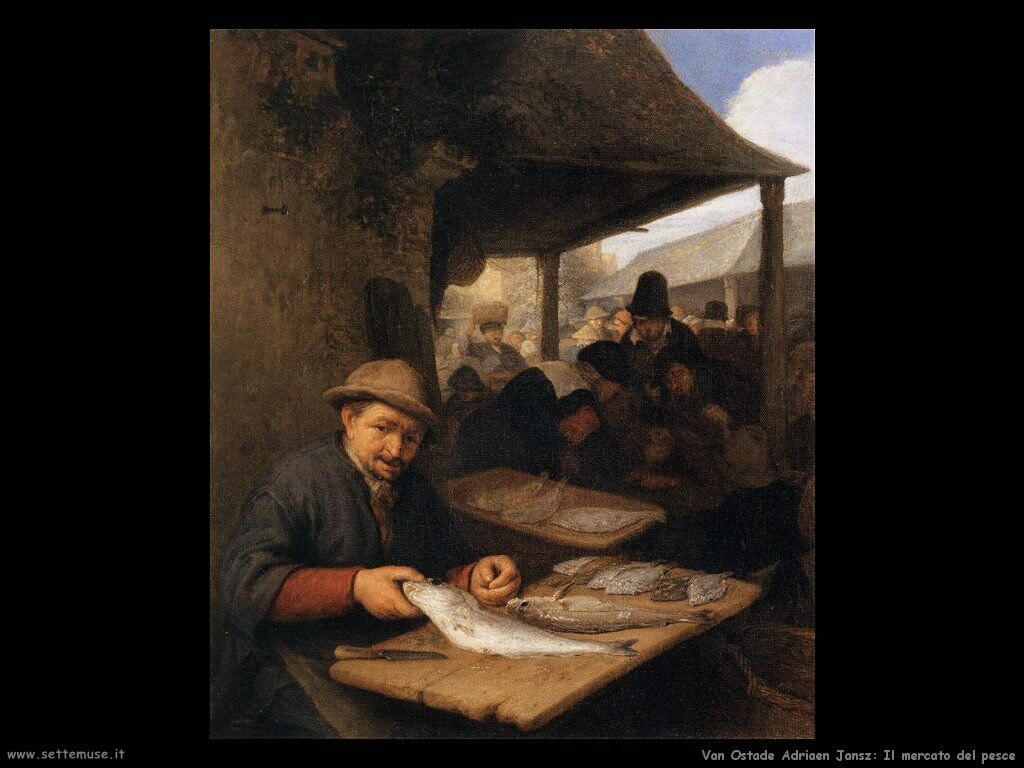 Mercato del pesce Van Ostade Adriaen Jansz
