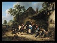 Contadini che ballano e festeggiano Van Ostade Adriaen Jansz