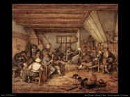 Contadini che festeggiano in una taverna Van Ostade Adriaen Jansz