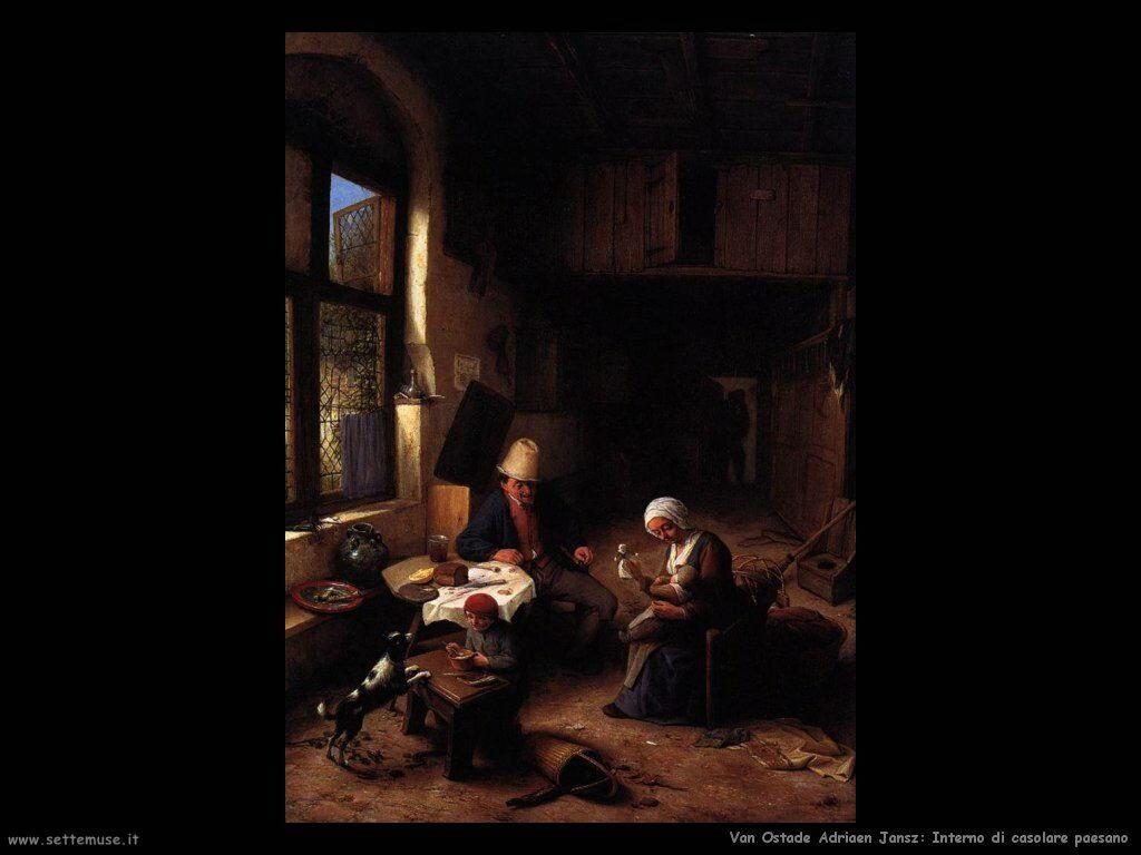 Van ostade adriaen jansz pittore biografia foto opere - Interno di una casa ...