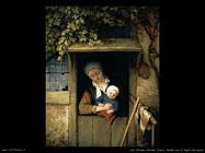 Madre con bambino sulla porta Van Ostade Adriaen Jansz
