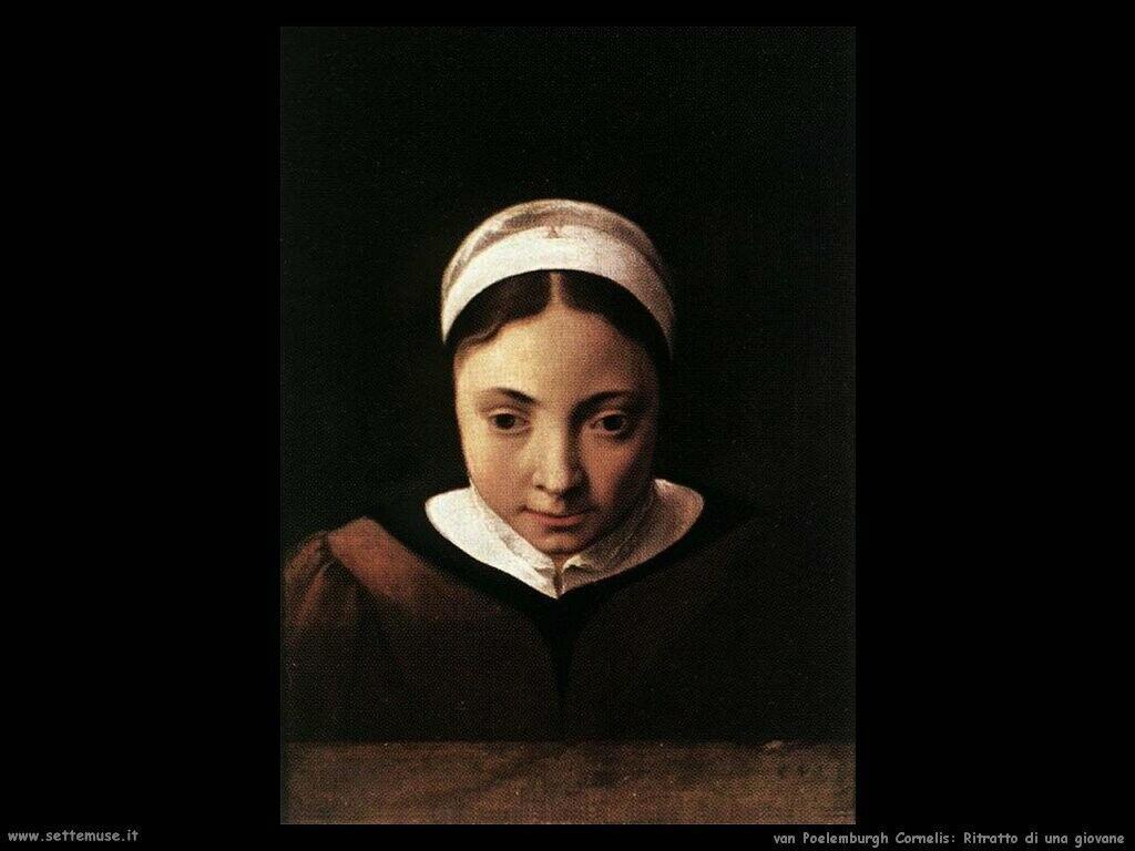Ritratto di ragazzina Van Poelenburgh Cornelis