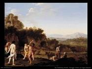 Paesaggio italiano con figure danzanti Van Poelenburgh Cornelis