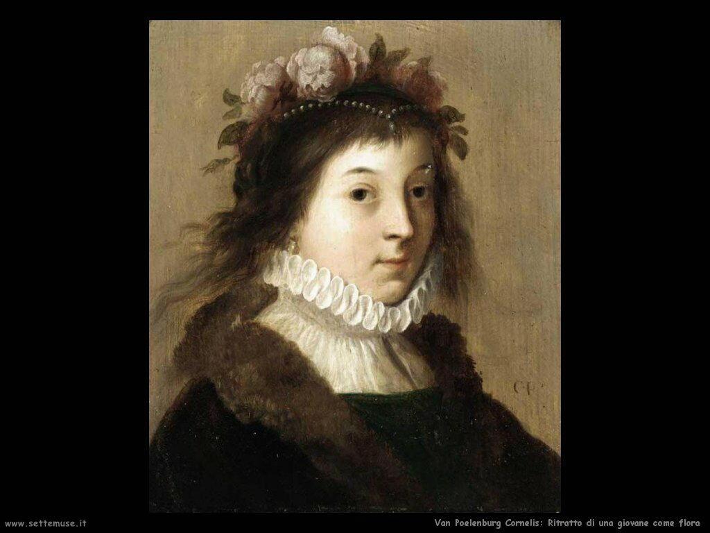 Ritratto di ragazzina come Flora Van Poelenburgh Cornelis