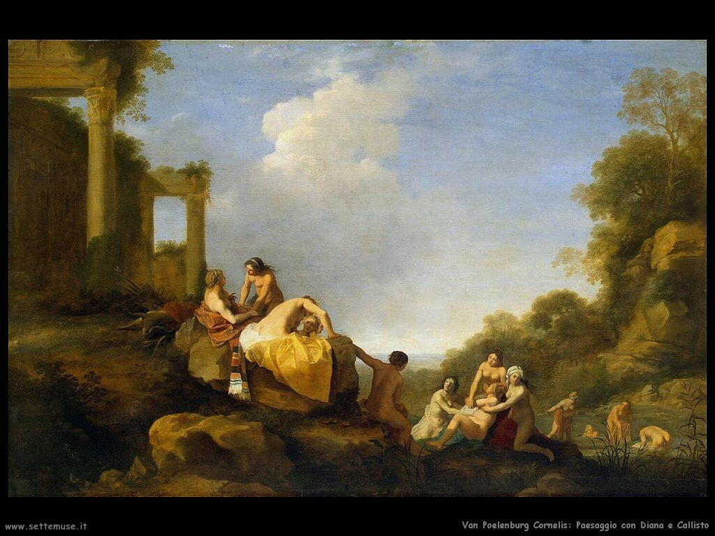 Paesaggio con Diana e Callisto Van Poelenburgh Cornelis