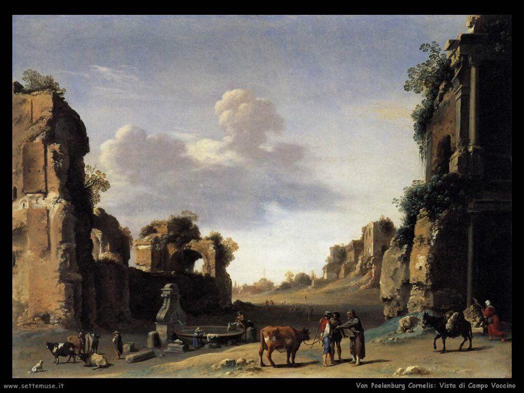 Vista sul campo delle mucche Van Poelenburgh Cornelis