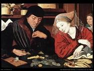 Van Reymerswaele, Marinus Il banchiere con sua moglie