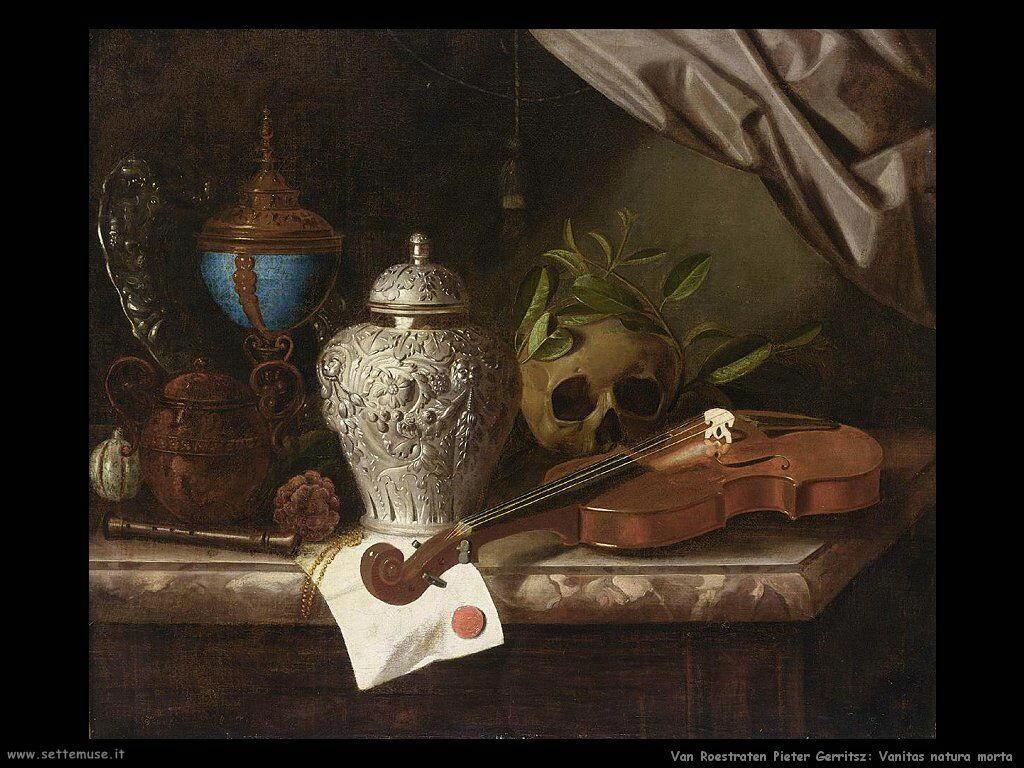Van Roestraeten, Pieter Gerritsz Vanitas natura morta