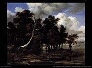 Querce sul lago con ninfee Van Ruysdael Jacob Isaackszon