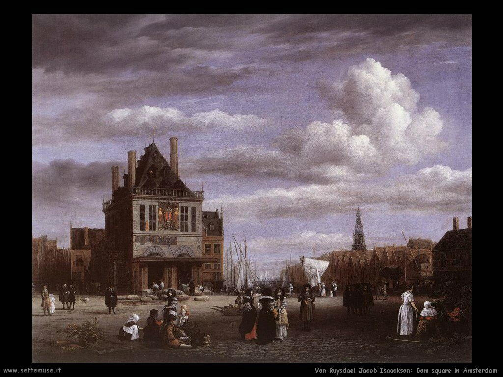 Piazza Dam ad Amsterdam Van Ruysdael Jacob Isaackszon