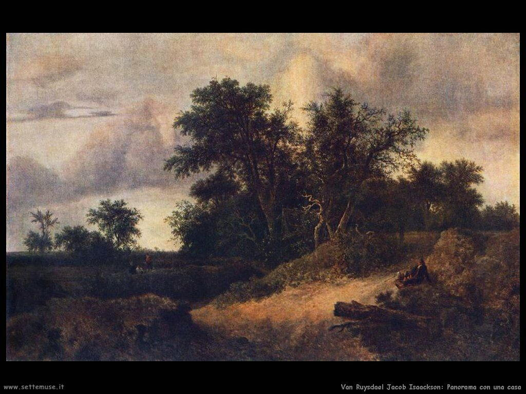 Paesaggio con casa nel boschetto Van Ruysdael Jacob Isaackszon