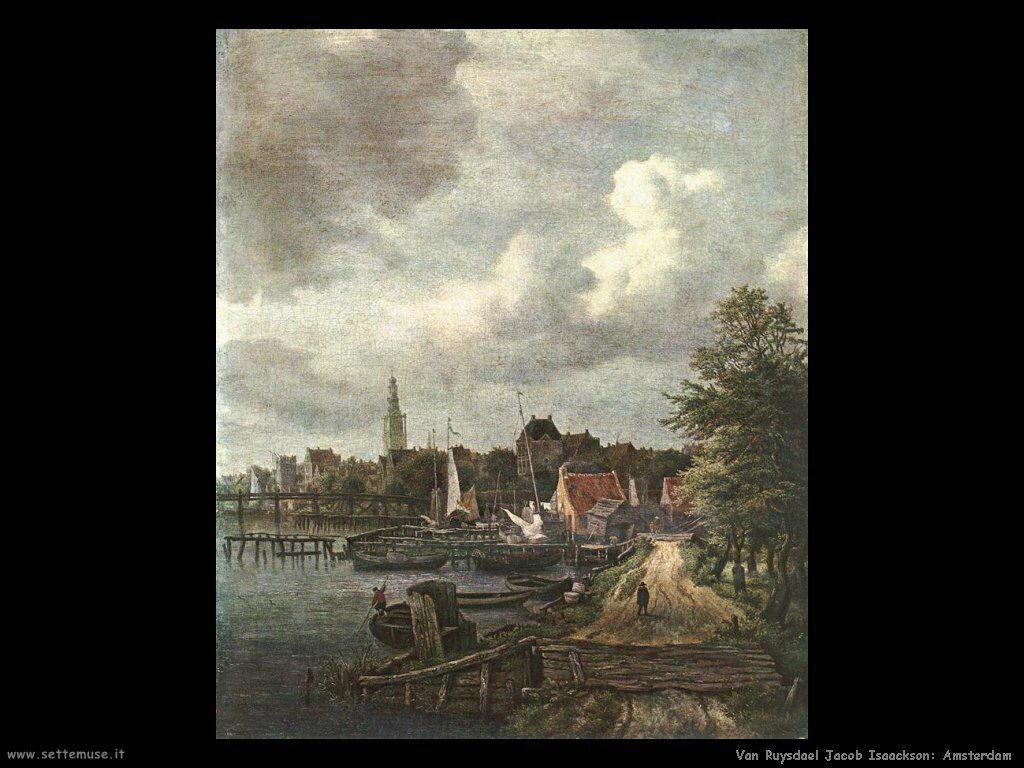 Vista di Amsterdam Van Ruysdael Jacob Isaackszon
