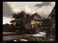 Due mulini ad acqua ed una chiusa aperta Van Ruysdael Jacob Isaackszon