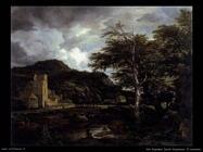 Il chiostro Van Ruysdael Jacob Isaackszon