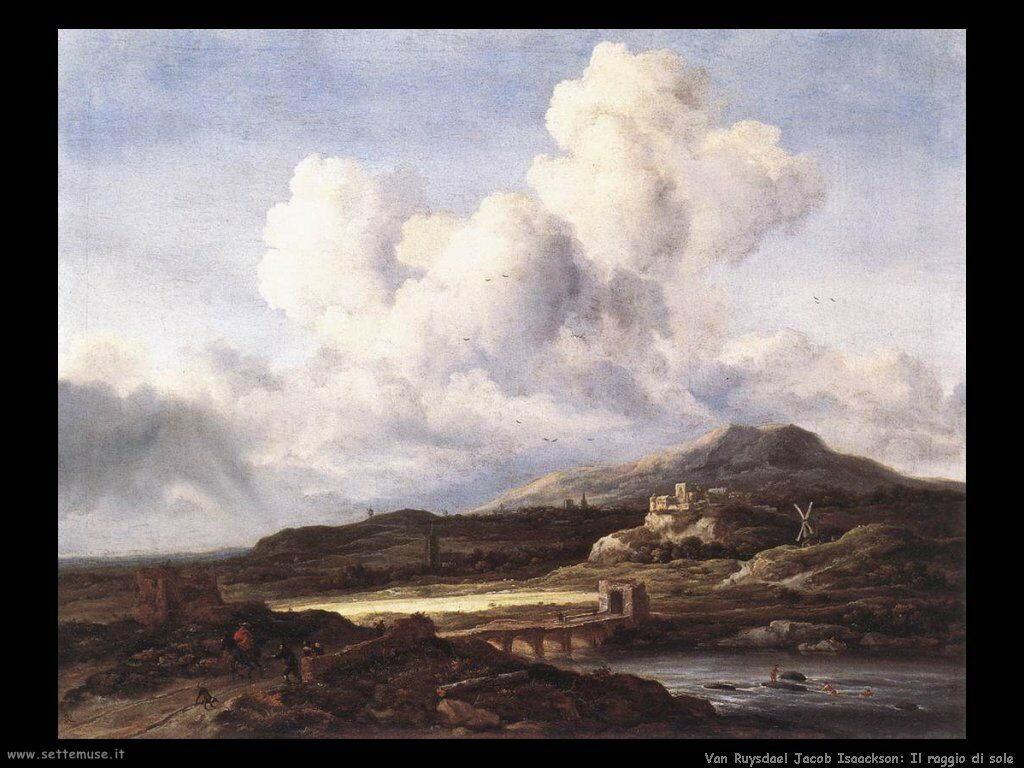 Il raggio di sole Van Ruysdael Jacob Isaackszon