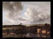 Un vasto panorama con un  rudere Van Ruysdael Jacob Isaackszon